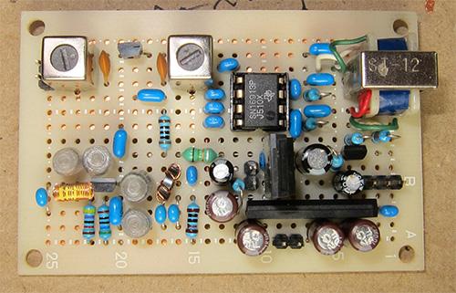 7MHzダイレクトコンバージョン受信機の基板